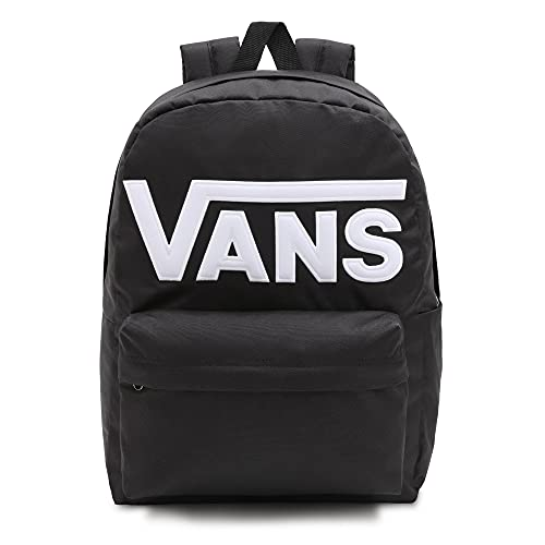 Vans Old Skool Drop V Backpack, Mochila Unisex Adulto, Blanco Y Negro, Talla única