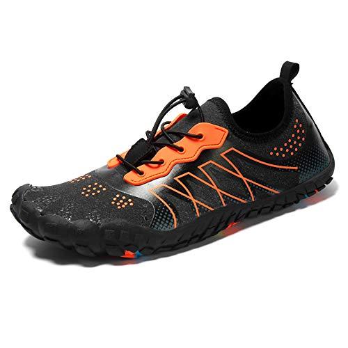Zapatos de Agua de Playa Unisex, Morbuy Deportes Escarpines Mujer Hombre Natación Antideslizante Buceo Snorkel Zapatillas Ligeros Secado Rápido Calzado de Surf Yoga (41EU / 260mm,Naranja)