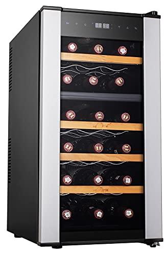 VINOTECA INFINITON WCL-18T (A+, Capacidad hasta 18 Botellas, Estantes de Madera, Display LED, Puerta de Cristal, Nevera para vinos)