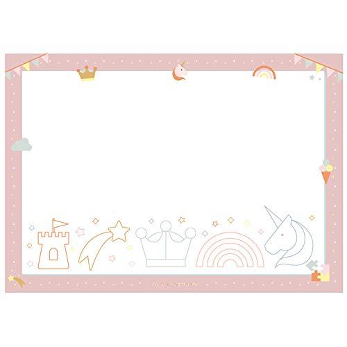 SONNTAGSKINDER Protector de escritorio para niños en la guardería, mucho espacio para pintar, garabatear y colorear, DIN A2, para niños de hasta 5 años, fabricado en Alemania (rosa)