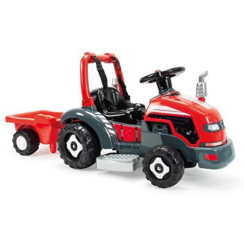 INJUSA Tractor Little 2 en 1 Eléctrico de 6V y Correpasillos para Niños Entre 1 y 3 Años, Color Rojo (1505)