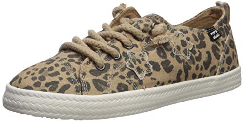 Billabong Women's Marina Canvas Shoes Sneaker, Cheetah, 7H Medium US