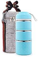 携帯用ステンレススチール封印されたスカルディングスリーピースセット、オフィスワーカーのための携帯用セット,A