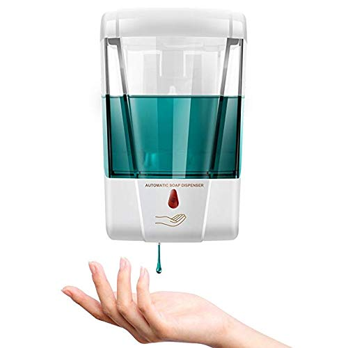 Tagve Automatic Soap Dispenser Wall Mounted 700ml Hand Free Touchless Infrared Sensor For Kitchen Bathroom Commercial Public Places White Buy Online In Dominican Republic At Desertcart