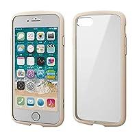 エレコム iPhone 8 / iPhone 7 ケース 耐衝撃×フレーム TOUGH SLIM LITE [背面クリアタイプ] アイボリー PM-A17MTSLFCIV