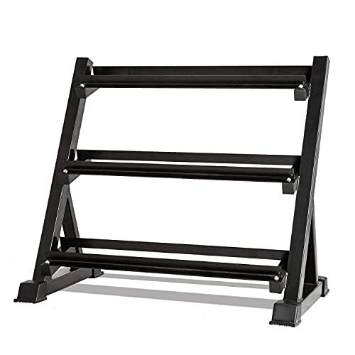 EPFHR Adjustable 3 Tier Heavy Duty Dumbbell Rack, Weights Rack Hex Dumbbells Storage Stand Holder shelf for Home Gym ,300kg Load (Rack Only)