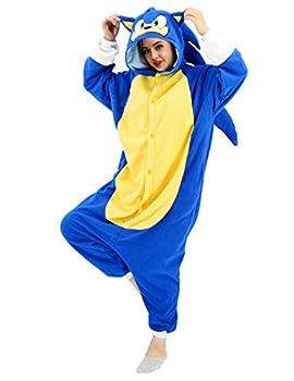 vavalad Adult Onesie Pajamas Cosplay Halloween Christmas Animal Hedgehog Homewear Sleepwear Jumpsuit Costume Women Men