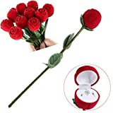 XianYuu Red Rose Jewelry Box Wedding Ring Gift Case Earrings Storage Display Holder Gift Boxes for Earring Rings 1Pcs-in Jewelry Packaging & Display from Jewelry & Accessories,Red