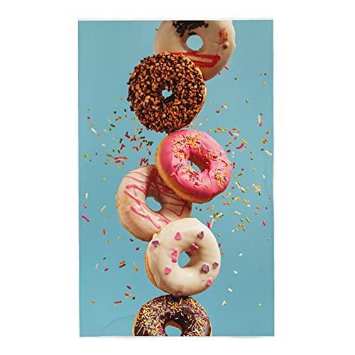 onetoze Toalla de Playa Donut Chocolate Toallas de Acampada Toallas para Piscina Natación Seque Rápidamente, Absorbente Toallas Ducha Viaje Picnic, 80x130cm