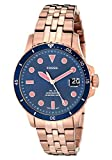 Fossil Women's FB-01 Quartz Watch with Stainless Steel Strap, Rose Gold, 18 (Model: ES4767)