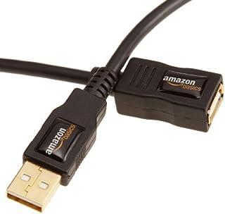 AmazonBasics 7GV4 USB 2.0 A-Stecker auf A-Buchse Verlängerungskabel 1 m, Schwarz
