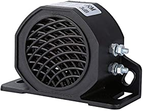 XuSha Car Back-up Alarm, 110 ± 3 dB 12V-24V DC Waterproof Industrial Heavy-Duty Backup Reverse Warning Alarm with Super Loud Beeper Tone for Truck Van Freight Car Lorry Heavy Vehicles