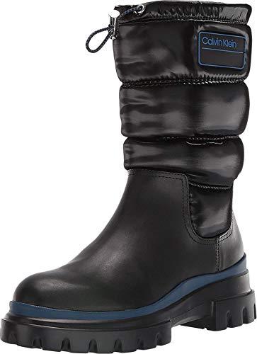 Calvin Klein Womens Laeton Puffer Cold Weather Winter Boots Black 9 Medium (B,M)