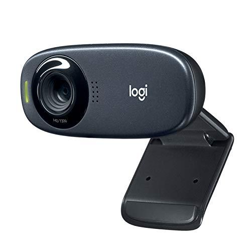 Logitech C310 Webcam, HD 720p, 60° Sichtfeld, Fester Fokus, Belichtungskorrektur, USB-Anschluss, Rauschunterdrückung, Universalhalterung, Für Skype, FaceTime, Hangouts, etc., PC/Mac/ChromeOS/Android