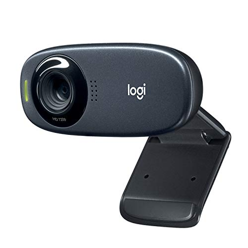 Logitech C310 Webcam HD, Video-Llamadas HD Amplio Campo Visual, Corrección de Iluminación, Micrófono Reductor de Ruido, Skype, FaceTime, Hangouts, WebEx, PC/Mac/Portátil/Macbook/Tablet, Color Negro