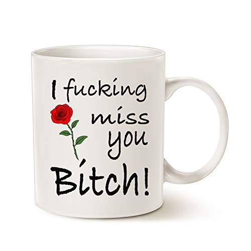 MAUAG Best Friends Long Distance Friendship Funny Coffee Mug, Unique...