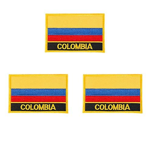 Patch, Kolumbien-Flagge, bestickt, zum Aufbügeln oder Aufnähen, 3 Stück