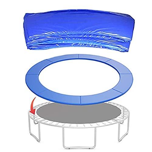 Trampolines Spring Pad, Trampolín para Niños con Borde De Esponja, Impermeable Y Resistente A Los Rayos UV, Azul,1.14 m