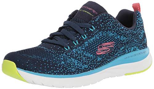 Skechers womens Ultra Groove - Sneaker, Navy/Blue, 7.5 US