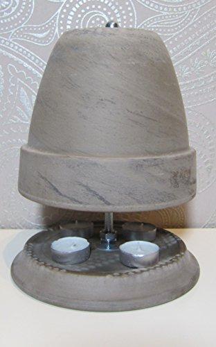 Teelichtofen Kerzenofen Teelichtheizung Höhe 27cm Durchmesser 20cm Farbe Basalt