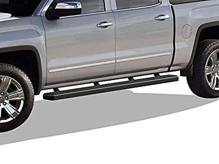 Excl. 2019 Silverado 1500 LD APS iBoard 304 Stainless Steel Polished 5 Silver Running Boards Custom Fit 2019-2020 Chevy Silverado GMC Sierra 1500 Crew Cab Nerf Bars | Side Steps