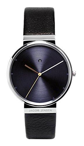 Jacob Jensen Reloj analógico para Hombre de Cuarzo con Correa en Piel Dimension Series Item NO.: 841