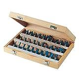 Silverline 580422 Set di punte fresatrici in metallo duro, 1/2', 30 pezzi, Colori assortiti