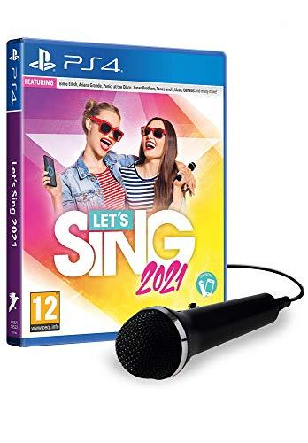 Jogo Let's Sing 2021 + 1 Microfones PS4
