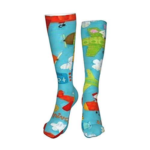 Decams Calcetines unisex de alto muslo, ligeros y frescos, calcetines largos, para botas altas, calentadores de pierna alta, calcetines deportivos