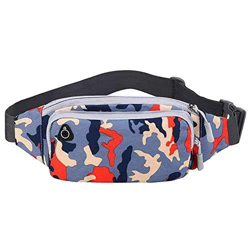 Binwwe Riñonera Deportiva Bolsa de Cintura Impermeable para Mujer Hombre Ideal para Practicar Deportes al Aire como Senderismo, Escalada