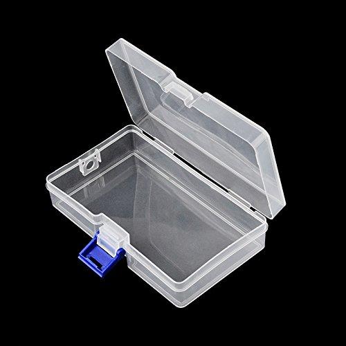 LUCOG 1 PC en Plastique Nail Outil Décorations Vide Boîte De Cas De Stockage Santé et Beauté Nail Art