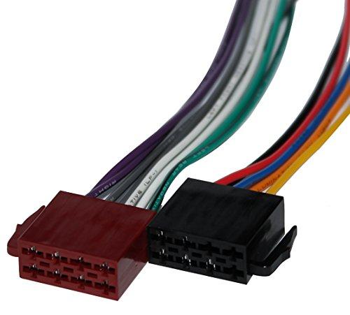 Aerzetix: Connecteur fiche ISO 8PIN + 5PIN pour autoradio précâblée faisceau universel alimentation+son haut parleurs enceintes