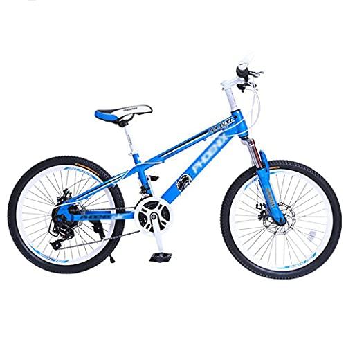 Bicicleta para niños Bicicleta de Montaña para Niños 20/22 Pulgadas Freno de Disco Doble de 21 Velocidades Bicicleta BMX Durante 6-15 Años Niños Adolescentes Bicicleta Al Aire Libre Portátil Niño y Ni