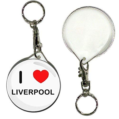 Llavero con diseño de letra 'I Love Liverpool' de 55 mm