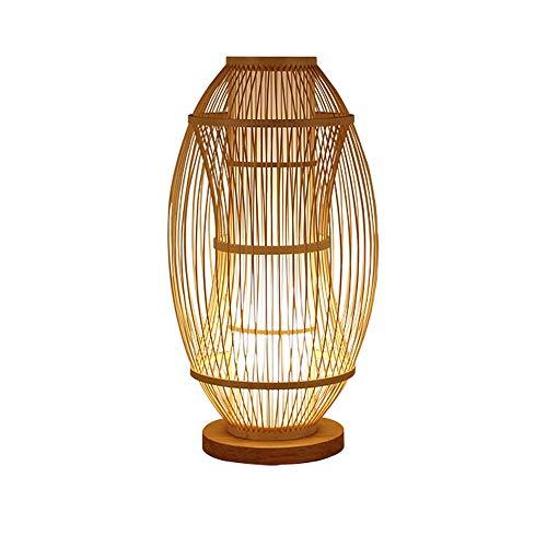 PULLEY Lámpara de mesa moderna, moderna lámpara de escritorio clásica de bambú para dormitorio, sala de estar