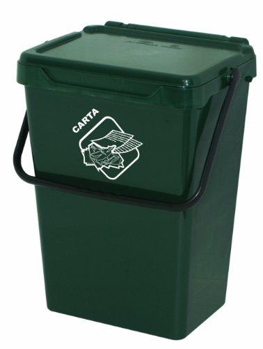 Art Plast BS35/V Cassonetto per la Raccolta Differenziata in Plastica, Verde