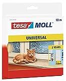tesamoll Universal Schaumstoff - Schaumstoffdichtung zum Isolieren von Spalten im Haushalt, selbstklebend - Weiß - 10 m x 9 mm x 5,5 mm