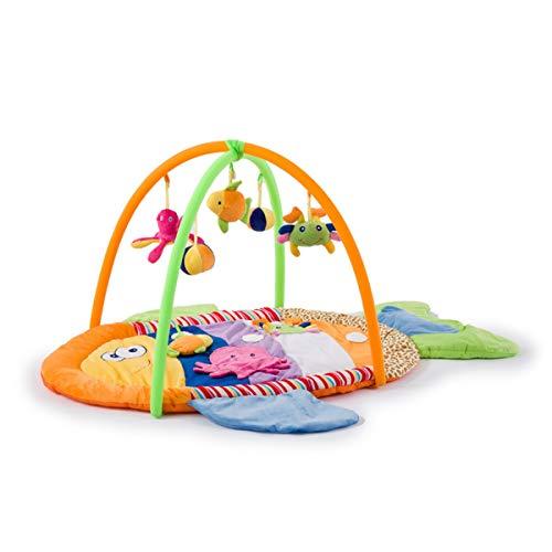 ZoSiP Alfombras de Juego y Gimnasios Piso Bebé Bebé Juego Manta Bebé Crawling Mat Toy Stand Music Fitness Stand 0-1 años Juguetes Educativos para Niños pequeños (Color : Green, Size : 90x90x50cm)