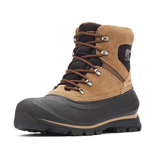 SOREL - Men's Buxton Lace Waterproof Winter Boot, Delta, Black, 10 M US