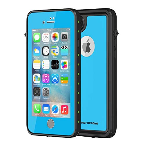 ImpactStrong iPhone 7/8 Waterproof Case, [Fingerprint ID Compatible] Slim Full Body Protection for Apple iPhone 7 and iPhone 8 (4.7 inch) - Sky Blue