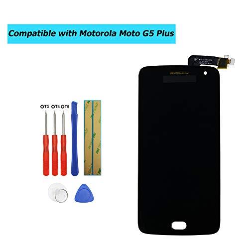 Upplus - Pantalla LCD de Repuesto Compatible con Motorola Moto G5 Plus XT1685 XT1686 XT1687, con Kit de Herramientas, Color Negro