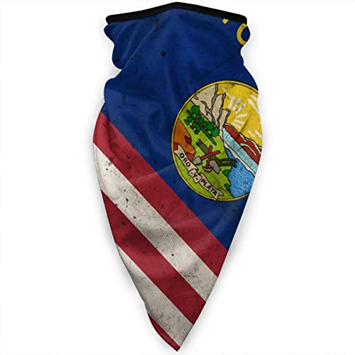 GWrix Halsgamas, halfgezicht, magische sjaal, multifunctionele halsdoek, ademend hoofdwear, tennessee vlagpatroon, half gezicht, voor mannen en vrouwen, mondbeschermer, sportbandana