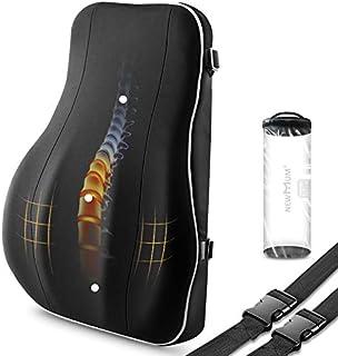 NewMum Almohada lumbar de espuma viscoelástica diseñada ergonómicamente para apoyar la cintura y cuidar la columna vertebral. Adecuado para sillas de ruedas de oficina y hogar