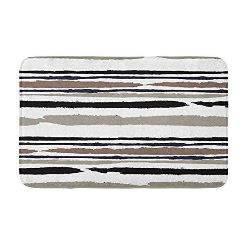 Grunge con rayas líneas pintadas textura con cepillo horizontal trazos garabatos piso alfombra entrada bienvenida felpudos almohadilla de baño para cocina baño baño 40 x 60 cm