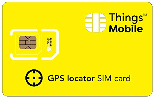 Tarjeta SIM para LOCALIZADOR GPS - Things Mobile - con cobertura global y red multioperador GSM/2G/3G/4G LTE, sin costes fijos, sin vencimiento y con tarifas competitivas, con 10 € de crédito incluido