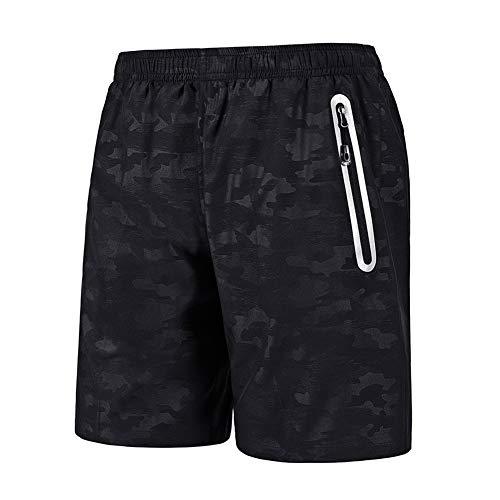 Meijunter Hommes Shorts de Course avec Fermeture Éclair Les Poches,Poids Léger Rapide Sec Respirant Gym Faire des Exercices Jogging des Sports Short Plage Nager Pantalon