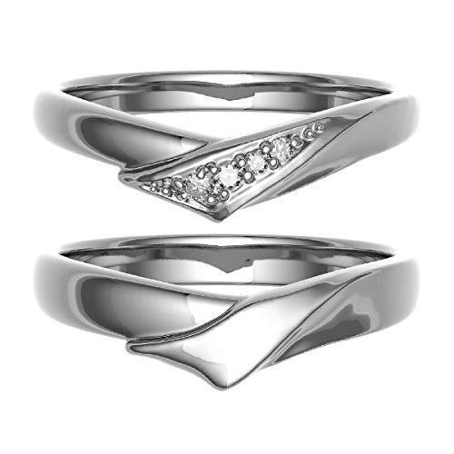 [ココカル]cococaru ペアリング 結婚指輪 K18ゴールド 2本セット マリッジリング ダイヤモンド 日本製(レディースサイズ3号 メンズサイズ19号)