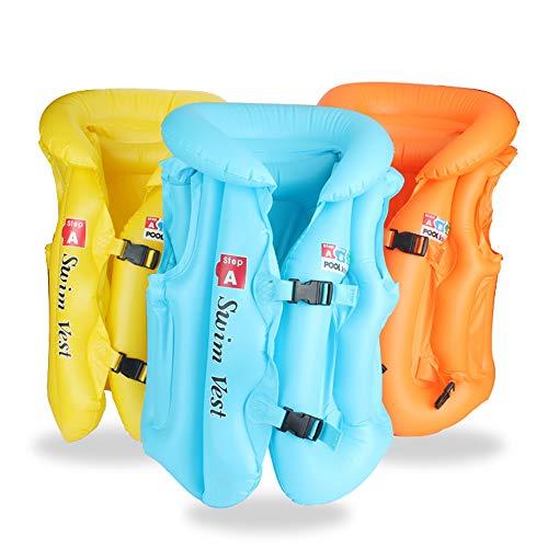 Vansoon Giubbotto Gonfiabile per Piscina Giubbotto Gonfiabile, Sicuro Impara a Nuotare Panca da Allenamento Giubbotto da Nuoto, Anello da Nuoto Giubbotto da Nuoto 3 Taglie per Bebe Bambini (Blu, M)