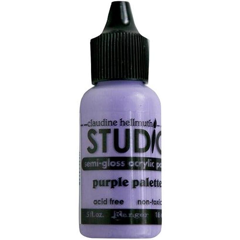 Ranger Claudine Hellmuth Studio Line Mini Paints .05 Ounces-Purple Palette