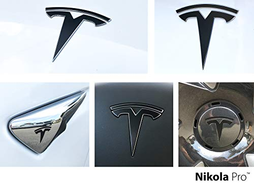 Nikola Pro Tesla Model 3 Logo Decal Wrap Kit (Satin Black)